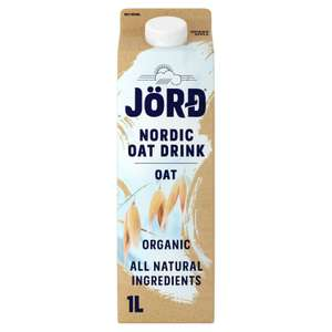 Jord Organic Oat / Oat & Hemp / Oat & Barley drink 1 litre for £1 at Sainsbury's