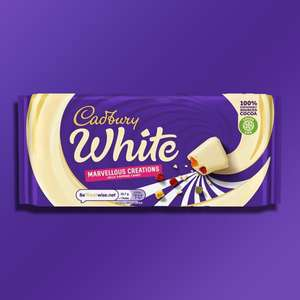 17 x Cadbury Creamy White Marvellous Creations 160g Chocolate Bars (Best Before 27/11/2021) £12 @ Yankee Bundles