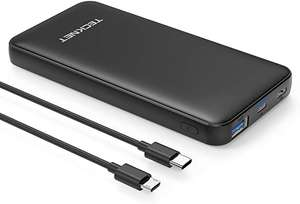 TECKNET 10000mAh 18W PD Portable Charger Power Delivery USB C Quick Charge 3.0 PowerBank £6.99 with voucher + £4.49 NP Sold by Bluetree FBA