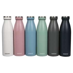 Sistema Stainless Steel Double Walled Water Bottle 500ml - £7.50 Waitrose online + in-store