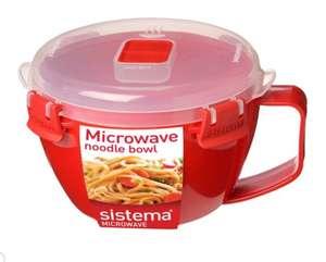 Sistema Noodle Bowl Now £3 / Sistema microwave Rectangular Bowl £1.25L £2.75 / Medium Steamer £5 (Clubcard prices) @ Tesco
