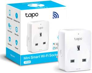 TP-Link Tapo Smart Plug Wi-Fi Outlet £4.99 (Prime) + £4.49 (non Prime) at Amazon (select customers)