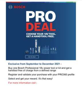 Bosh Professional PRO deal - free hand tool