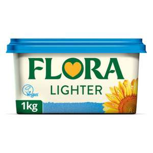 Flora Original Dairy Free / Light Vegan / Buttery spreads - all in 1kg for £2 @ Asda