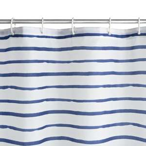 Argos Home Striped Shower Curtain - Navy - £3 (with free click and collect) @ Argos