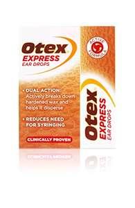 Otex Express Ear Drops for Hardened Ear Wax, 10ml £4.00 Prime + £4.49 Non-Prime @ Amazon