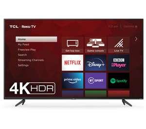 "TCL 65RP620K Roku 65"" Smart 4K Ultra HD HDR LED TV £499.99 @ Currys PC World"