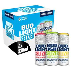 Bud Light Seltzer Variety 6 pack - £4.49 in-store @ Home Bargains, Colby Newham