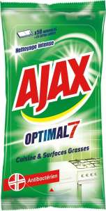 Ajax Optimal 7 Kitchen Cleaner Wipes (Pack of 50 Pieces) 99p @ Amazon (£4.49 p&p non prime)