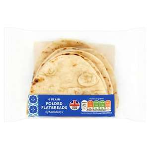 Plain Folded Flatbreads x6 - 70p @ Sainsbury's