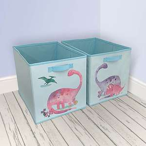 Twin Pack Storage Boxes - Dinosaur / Unicorn / Fairies - £6.40 (with free click and collect) @ Dunelm
