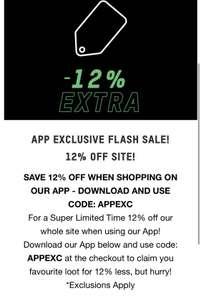 Extra 12% off using app with code @ Zavvi