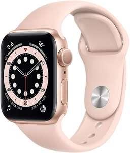 Apple Watch Series 6 GPS, 40mm Gold Aluminium Case with Pink Sand Sport Band - Regular £305.93 Amazon