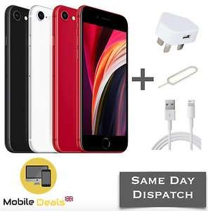 (Opened-Never Used) Apple iPhone SE 2020 64GB 4G LTE iOS Smartphone Black/Red/White, £199.99 at mobiledealsuk ebay