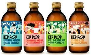 Hip Pop Kombucha 6-bottle taster case £10 delivered via Hip Hop Store + £4.25 TopCashback
