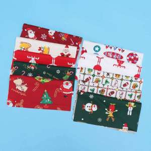 HEALLILY Christmas Fabric 10Pcs Cotton Craft Fabric 25x25cm £1.94 (+£4.49 non-prime) @ Sold by IbrihamnIbrihamn / Fulfilled By Amazon
