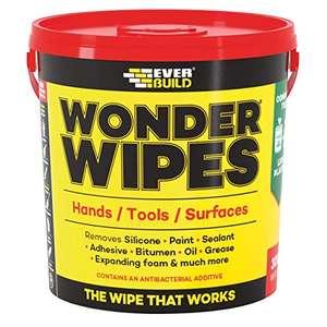 Everbuild EVBGIANTWIPE Multi-Use Cleaning Wipes, 300 Wipes £10.98 Prime + £4.49 NonPrime @ Amazon