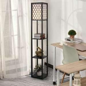 HOMCOM Modern Shelf Floor Lamp Light with 4-tier Open Shelves £36.79 delivered using code @ eBay / mhstarukltd