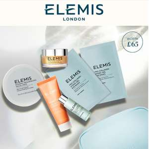Free exclusive ELEMIS 6-piece gift set with £80+ orders using code + 2 Free Samples + Free Delivery @ ELEMIS