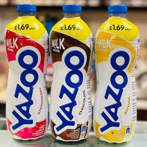 Yazoo 1L Chocolate/Banana/Strawberry Flavoured Milk is £1 @ One Stop