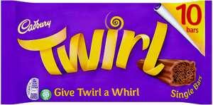 Cadbury Twirl Chocolate Single Bar, Pack of 10 £1.82 @ Amazon (£4.49 non prime) £1.73 subscribe & save