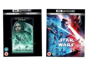 Rogue One: A Star Wars Story/Rise of Skywalker 4K UHD - £10 each + free Click and Collect @ Argos