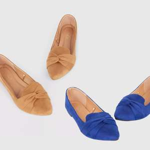 M&co 'Feather' Twist Point Ballerina Shoes - 4 colour options £4.40 + Free Standard / Next Day Delivery using code @ Debenhams