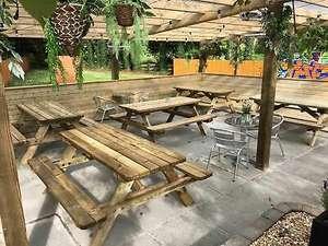 Heavy Duty Picnic tables, Wooden Garden bench, Outdoor, Garden table, Heavy duty £151.20 UK Mainland at niclimbingframesandaccs ebay