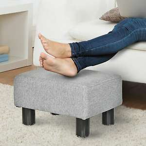 Homcom small footstool Ottoman grey linen fabric with plastic legs for £13.59 delivered using code @ eBay / 2011homcom