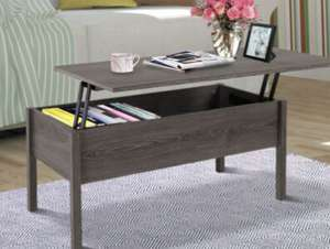 HOMCOM Modern Lift Top Coffee Table with Storage £42.39 delivered with code @ mhstarukltd / ebay