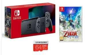 Nintendo Switch Grey Console (Improved Battery) + Legend Of Zelda Skyward Sword + 64GB Samsung Evo Plus - £270.47 With Code @ JD Williams