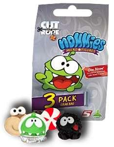 Cut The Rope Nommies Micro figures 3 pack grab bags 10p in Homebargins (Belfast)