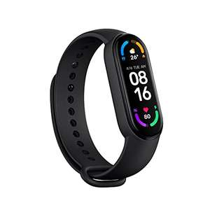 Xiaomi Mi Smart Band 6 - 1.56'' AMOLED Touch Screen, SPO2,14 Days Battery Life HR Monitor 5ATM Water Res. [Official UK] £22.99 @ Amazon