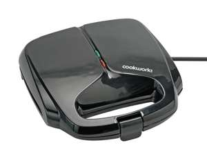 Cookworks 2 Portion Sandwich Toaster - £4.99 (Free click & collect) @ Argos