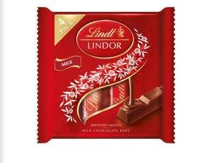 Lindt Lindor Milk Chocolate Bars 4 x 25g - £1.50 at Iceland