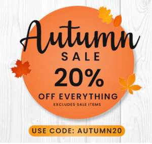 Roov 20% off everything (Excludes Sale Items) * some sale items are accepting the code.