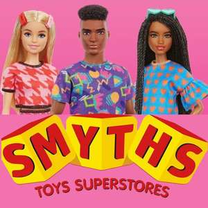 Barbie Fashionistas Dolls BOGOF / Buy One Get One Free - £9.99 with free click and collect at Smyths Toys