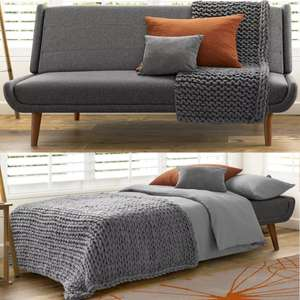 Ellery Grey 3 Seater Sofa Bed - £199.20 Delivered (UK Mainland) @ Sleep and Snooze