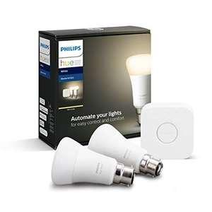 Philips Hue White Starter Kit: Smart Bulb Twin Pack LED £31.75 at Amazon