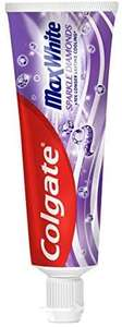 Colgate Max White Sparkle Diamonds 75 ml Teeth Whitening Toothpaste £1.25 (£1.13 with Subscribe & Save / +£4.49 non-prime) @ Amazon