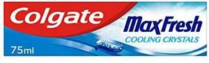 Colgate Max Fresh Cooling Crystals Toothpaste, 75ml - £1 (90p with S&S) + £4.49 Non Prime @ Amazon