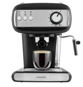 Cookworks Espresso Coffee Machine £39.99 Free Click & Collect @ Argos