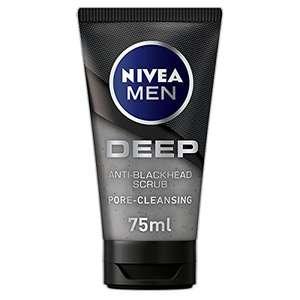 NIVEA MEN DEEP Anti-Blackhead Scrub Exfoliating Blackhead Face Wash £2.59 (+£4.49 Non Prime) @ Amazon