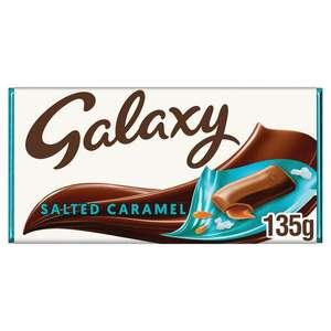 Galaxy Salted Caramel 135g chocolate bar for £1 at Sainbury's