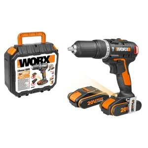 WORX WX384 18V (20V MAX) Brushless Cordless Combi Hammer Drill with x2 2.0Ah Batteries, £69.99 at worx/ebay