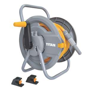 Titan Hose Reel 25m - £19.99 (Free click & collect) at Screwfix
