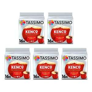 Tassimo Kenco Americano Smooth Coffee Pods (Pack of 5, Total 80 Coffee Capsules) £12.99 Amazon Prime (+£4.49 Non Prime)
