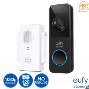 eufy Security 1080p Video Battery Doorbell with Wireless Chime and 16GB Micro-SD Card £74.99 delivered @ Costco (Membership Required)