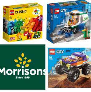 LEGO Classic 11001 Bricks & Ideas /60251 City Great Vehicles Monster Truck/ 60249 City Great Vehicles Street Sweeper £4.50 at Morrisons