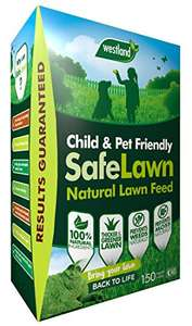 Westland SafeLawn Child and Pet Friendly Natural Lawn Feed 150 m2, Green, 5.25 kg for £6 (+£4.49 Non Prime) delivered @ Amazon